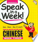 Speak in a Week Mandarin Chinese