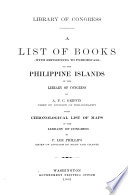 Bibliography of the Philippine Islands