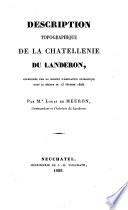 Description topographique de la Châtellenie du Landeron