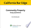 California Community Property Essay Questions for the Bar Exam