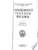 Experiment Station Record Book PDF
