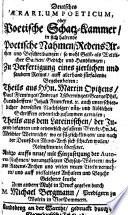 Deutsches aerarium poeticum oder poetische Schatz Kammer  etc