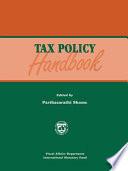 tax policy handbook