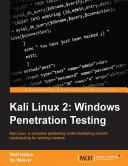 Kali Linux 2 Windows Penetration Testing