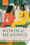 Words and Meanings
