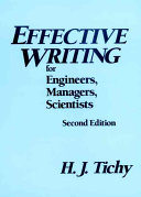 Effective writing for engineers, managers, scientists
