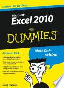 Excel 2010 f  r Dummies