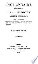 Dictionnaire historique de la medecine ancienne et moderne
