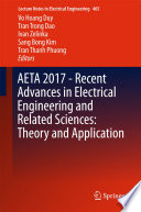 AETA 2017   Recent Advances in Electrical Engineering and Related Sciences  Theory and Application