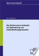 Key Performance Indicator zur Optimierung von Instandhaltungsprozessen