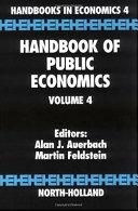 Handbook of Public Economics