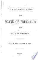 Official Report of the Proceedings of the Board of Education of the City of Chicago