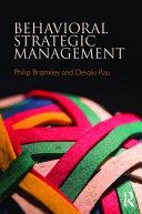 Behavioral strategic management