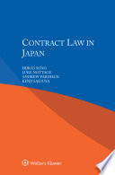 Contract Law In Japan