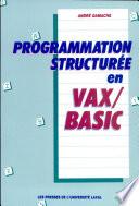 Programmation structur  e en Vax Basic