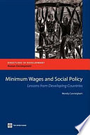Minimum Wages and Social Policy