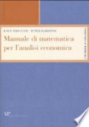 Manuale di matematica per l analisi economica