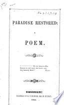 Paradise Restored : ...