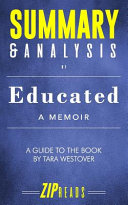 Summary Analysis Of Educated A Memoir A Guide To The Book By Tara Westover