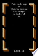 Rhetorical Criticism and the Poetry of the Book of Job