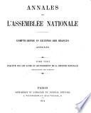 Annales de l'Assemblée nationale