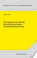 Demographischer Wandel, alternde Belegschaften und Betriebsproduktivität