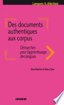 Des documents authentiques aux corpus
