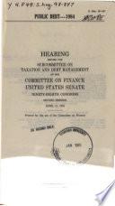 Public debt  1984 Book PDF