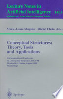 Conceptual Structures: Theory, Tools and Applications