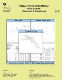 Fhwa Traffic Noise Model User S Guide