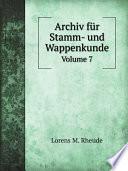 Archiv f?r Stamm- und Wappenkunde