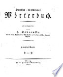 Deutsch b  hmisches W  rterbuch