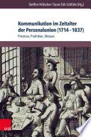 Kommunikation im Zeitalter der Personalunion (1714–1837)