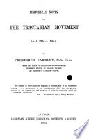 Historical Notes on the Tractarian Movement, A.D. 1833-1845