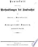 Protokoll über die Verhandlungen des Landraths im Unter-Main-Kreis des Königreichs Bayern