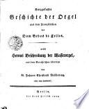 Kurzgefasste Geschichte der Orgel
