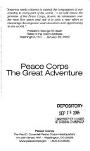 Peace Corps  the great adventure
