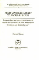 From Common Market to Social Europe