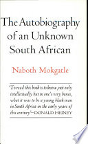 The Autobiography of an Unknown South African