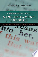 A Beginner s Guide to New Testament Exegesis