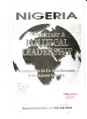 Nigeria  the Military   Political Leadership