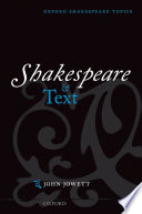 Shakespeare and Text