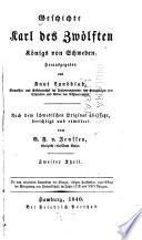 Geschichte Karl des Zwölften Königs von Schweden