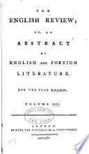 The English Review, Or, An Abstract of English and Foreign Literature