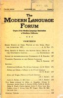 The Modern Languages Forum