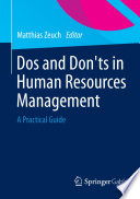 Dos and Don   ts in Human Resources Management