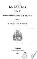 La lettera di Alessandro Manzoni a m. Chauvet pubblicata da Pietro Querni di Bagnone