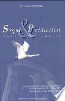 Signe et prédiction dans l'antiquité