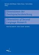 Dimensionen der Zweitsprachenforschung
