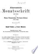 Altpreussische Monatsschrift